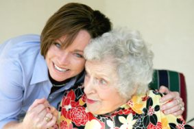 Looking after elderly lady 283x188 - Care Homes Dorset & Residential Care Wiltshire
