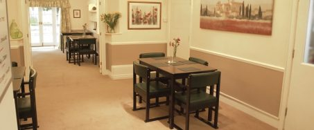 bramley dining2 453x188 - Care Homes Dorset & Residential Care Wiltshire