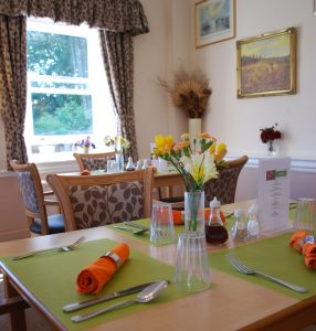 rectory dining room 286x300 - Care Homes Dorset & Residential Care Wiltshire