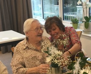 flower arranging 3 300x244 - Care Homes Dorset & Residential Care Wiltshire