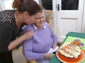 audreycake1 300x221 - Care Homes Dorset & Residential Care Wiltshire