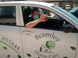 covid carer in car 251x188 - Care Homes Dorset & Residential Care Wiltshire