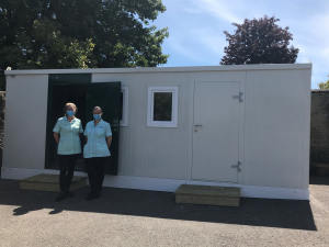 covid staff welfare unit 300x225 - Care Homes Dorset & Residential Care Wiltshire